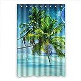 Crazy Ants Brauch Palme Palm Tree wasserdicht Polyester Stoff Badezimmer Duschvorhang Shower Curtain 120cm x 183cm(48