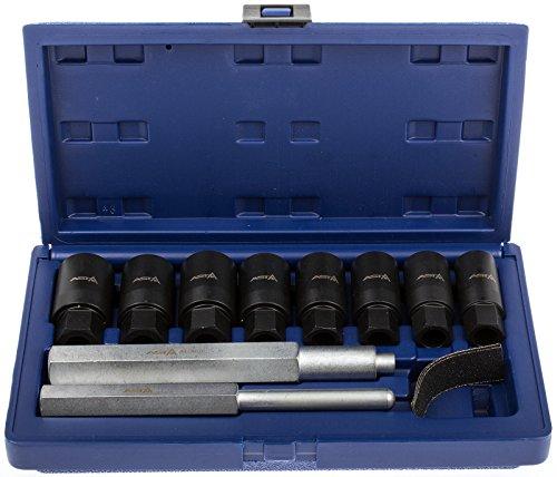 A-LONUT Felgenschloss Knacker Radschrauben Demontage Werkzeug Set Felgenschlösser Radsicherung öffnen Diebstahlsicherung Steckschlüssel Nüsse
