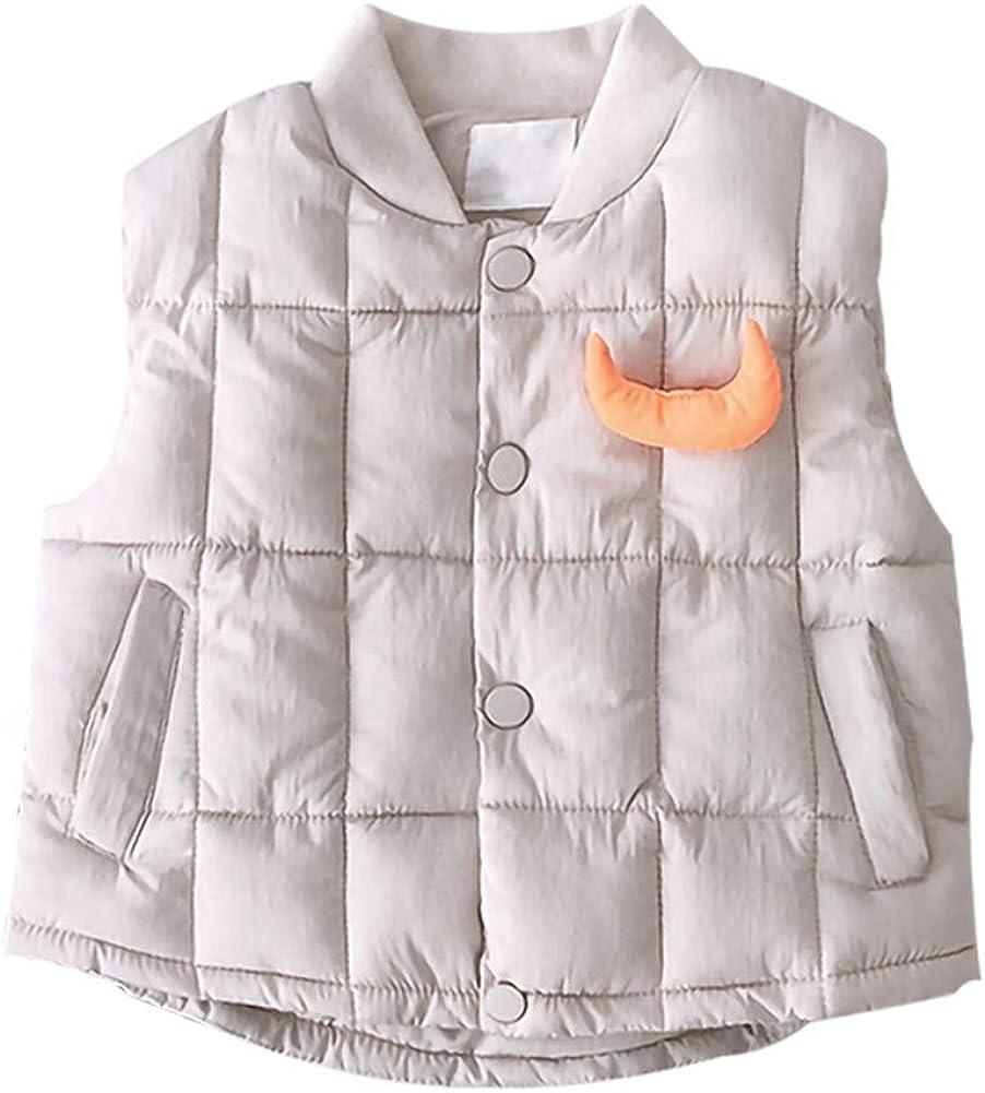 LittleSpring Down Vest for Baby Toddler Girls Cute Lightweight