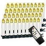 Vasen Candele LED Senza Fiamma per Albero di Natale Candele Natalizie Senza Fili con Clips e Telecomando per Festa Nozze Party Interno Esterno Luce (40pcs)