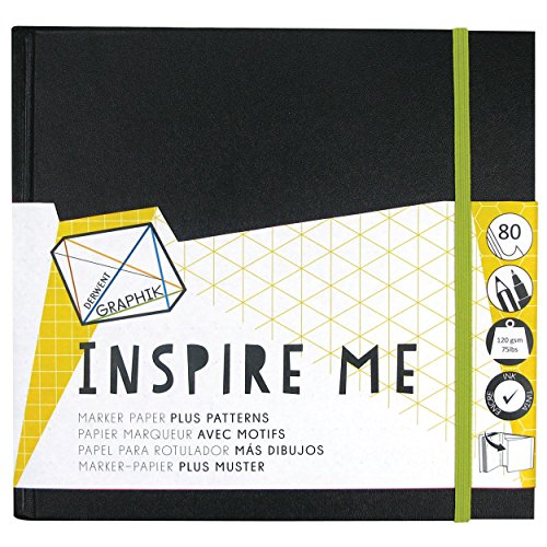Derwent Sketch Book, Graphik Inspire Me, 80 Pages of Bleed Proof Patterned Paper, Medium (2302237)
