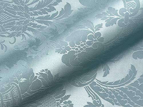 Raumausstatter.de Möbelstoff Bellevue Muster Abstrakt Ornamente Farbe blau als robuster Bezugsstoff, Polsterstoff blau Gemustert zum Nähen und Beziehen,Viskose