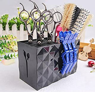 JM-capricorns Professional Salon Scissors Holder Rack, Modern Hairdressing Combs Clips Desktop Desk Organizer Accessories ...