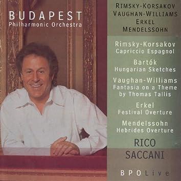 BPO Live: Rimsky-Korsakov, Bartók, Vaughan Williams, Erkel & Mendelssohn