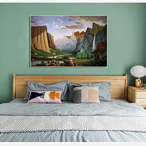 SADHAF Abstract Leinwanddruck Malerei Landschaft Poster und Druckbild Bild Home Decoration Wohnzimmer Wandbild A2 40x50cm