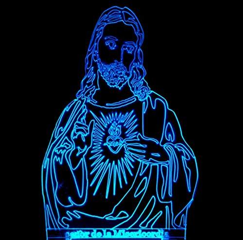 luce di cristo Lampada 3D Gesù Cristo Regalo creativo Luce notturna 3D per camera da letto Decorazione lampada da tavolo Regali per Christian