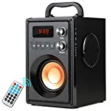 TAMPROAD 20W (30W Peak) Portable Bluetooth Speaker with Subwoofer Rich Bass Wireless Stereo Outdoor/Indoor Speakers Support Remote Control FM Radio TF Card for Home Party Smartphone Computer PC
