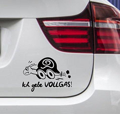 wDesigns Autoaufkleber Schildkröte Ich gebe VOLLGAS! Tuning Aufkleber Sticker Sprüche