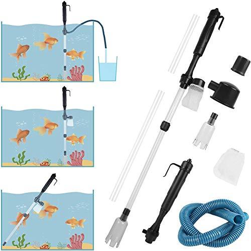 LILOVE Aquarium Kies Reiniger, Elektrische Aquarium Kies Reiniger, Batterie Staubsauger Wasser Filter Washer Siphon für Sand Waschen, Filter, Absorption von KOT
