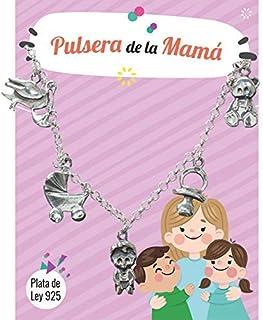 Pulsera de la Mamá Plata de Ley - Regalos nueva mamá: Amazon ...