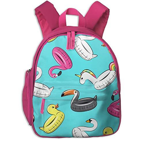 Mochila Infantil niña,Piscina Flotadores - Todos Los Flotadores En Azul_2797 - littlearrowdesign, para escuelas de niños Tela Oxford (Rosa)