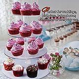 4-Etagen Cupcake Ständer, Tortenständer, Klar Runde Acryl – Hält bis zu 30 Cupcakes! Elegant Desserts Muffin Sushi Halter – Hoch Qualität & Haltbarer für Hochzeit, Geburtstage, Baby-Duschen. - 2