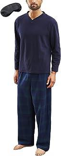 Men's Newquay Warm Winter Pyjama Set with Eye Mask