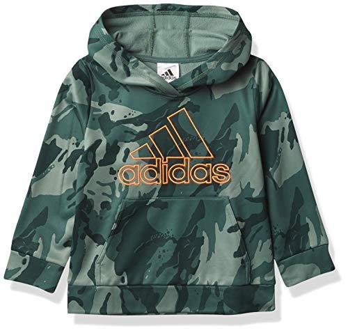 adidas Active Sport Athletic Pullover Hooded Sweatshirt Sudadera con Capucha, Core Camo Tech Esmeralda, 4 años para Niños