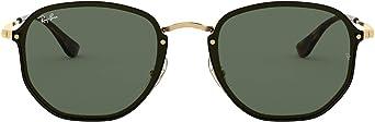 Óculos de Sol Ray Ban Blaze Hexagonal Rb3579n 001 71/58 Dourado com Preto