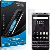 SWIDO Schutzfolie für BlackBerry KeyOne [2 Stück] Kristall-Klar, Hoher Festigkeitgrad, Schutz vor Öl, Staub & Kratzer/Glasfolie, Bildschirmschutz, Bildschirmschutzfolie, Panzerglas-Folie