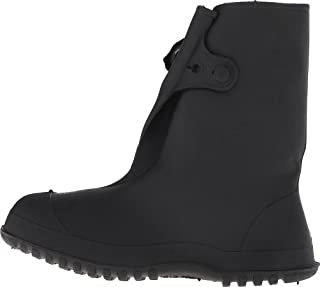 Tingley Rubber 35141 Work Brutes PVC 14-Inch Overshoe with Button, X-Large, Black