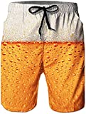 Rave on Friday Playa Natacion Pantalon Corto 3D Impresos Realista Beach Shorts Cerveza Gráfico Hawaii Funky Boardshorts XXL