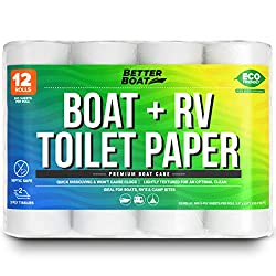 Boat and RV Toilet Paper Septic Safe Quick Dissolve for Marine and Camper Use Biodegradable and Tank Safe   Bulk 12 Pack