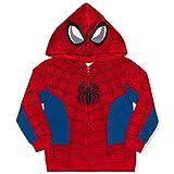 Marvel Boy's Spider-Man Full Zip Fashion Hoodie, Red/ Blue, Size 3T