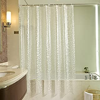 Ufelicity 72 Inch By 72 Inch Modern Clear Mosaic Shower Curtain Liner Mildew Free, Eco-friendly PVC Bath Curtain Soap Resistant/ Waterproof with Grommets for Shower