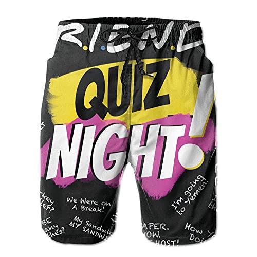 N \ A Love_Friends Tv_Show Signature - Pantalones cortos de playa para hombre, de verano, para natación, deportes, correr, para playa, surf, Multicolor, XXL