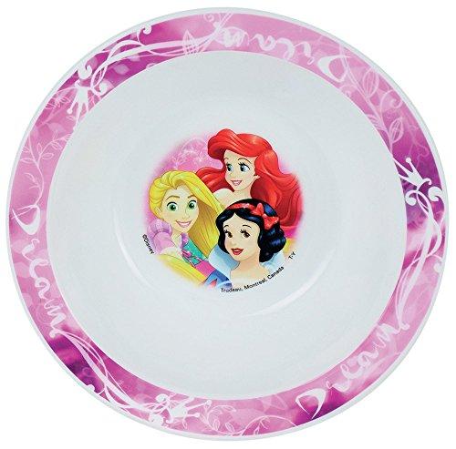 FUN HOUSE 005464 Disney Princesses Bol Micro-ondable pour Enfant, Polypropylène, Rose, 16 x 16 x 4 cm