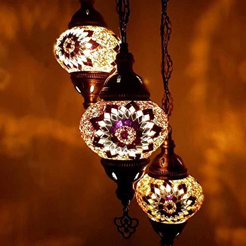 Sudamlasibazaar - Lámpara colgante de techo de mosaico marroquí turco, lámpara de mosaico, lámpara colgante, luz, iluminación, decoración del hogar, luz turca