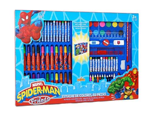 Spiderman - Estuche maletín con 86 Piezas (Saica Toys 7857)