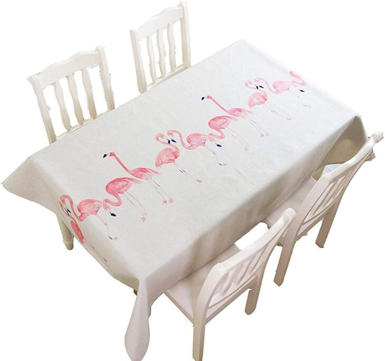 ZPF Dickes Pfund Baumwolle Pflanze Flamingo Tischdecke Restaurant Kreative Tischdecke Wohnzimmer Staubschutz Tuch (gre   140x180cm)