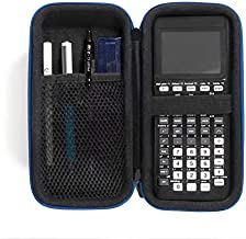 CaseSack Graphic Calculator Case for Texas Instruments TI84, TI83, TI89, Stationary Mesh Pocket, Pen/Pencil Holder, Detachable with Wrist Strap