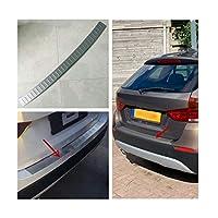 車のトランクの装飾 リアバンパープロテクターステップパネルブーツカバーシルプレートトランクトリムのためにBMWのX1 E84 2009 2010 2011 2012 2013 2014 2015 トランクプロテクション