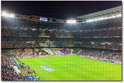 Puzzle- España Estadio Bernabeu Madrid Rompecabezas para Adultos Niños 1000 Piezas Juego de Rompecabezas de Madera para Regalos Decoración del hogar