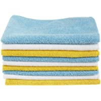 144-Pack AmazonBasics Blue, White, and Yellow Microfiber Cleaning Cloths