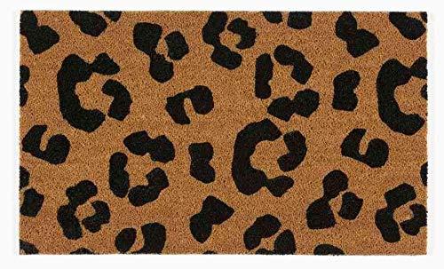 Coryl Madras - Alfombra, PVC, Negro, marrón, 75 cm x 45 cm