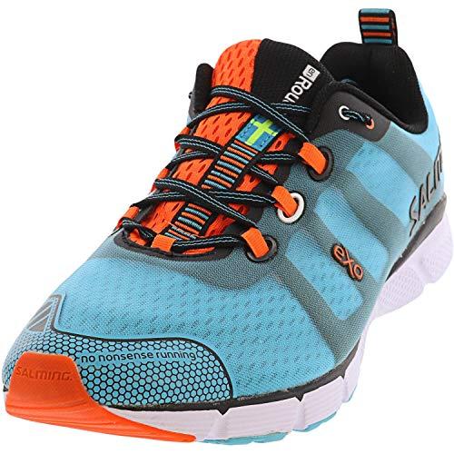 Salming Men Enroute Neutral Running Shoe Running Shoes Turquoise - Orange 10