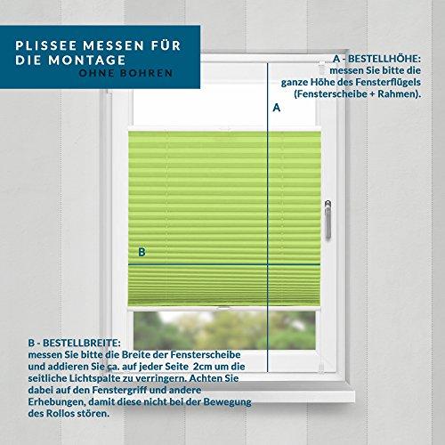 Plissee Grün HOME-VISION - 9
