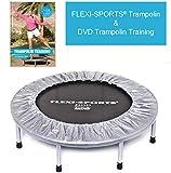 FLEXI-SPORTS® Trampolin IKON Mini 96, ø 100 cm, Fitness Indoor Trampolin, faltbar, inkl. DVD