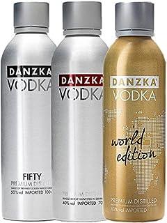 Danzka Vodka Deutschland Tricolore 1 x schwarz, 1 x rot, 1 x gold