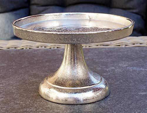 MichaelNoll Dekoteller Schale Servierplatte Aluminium Silber S 19,5 cm