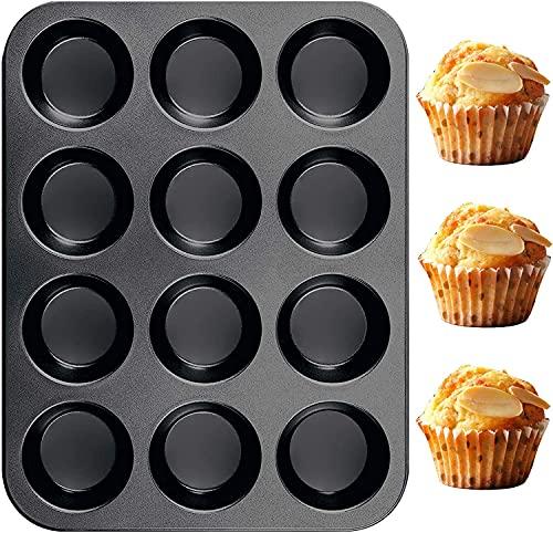 TeaRoo Silikon Backblech Backform Muffinform 12 Muffins, 38x27 cm, Antihaftbeschichtet, Standardgröße Spülmaschinengeeignet