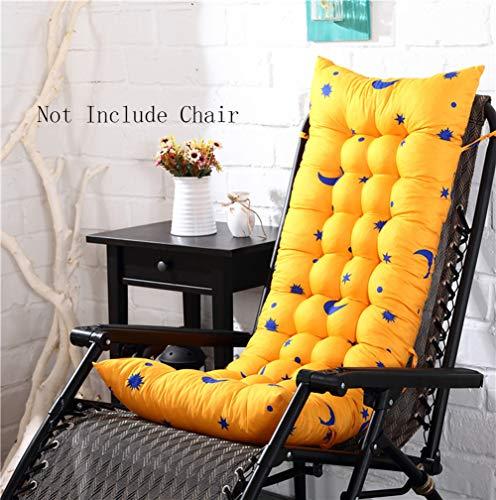 chenyu Outdoor Coussin de Chaise Longue terrasse Meubles de Jardin Chaise Longue de lit rembourré épais Décoration pour Coussin de Chaise à Dossier Haut 155 * 48 * 8cm Jaune