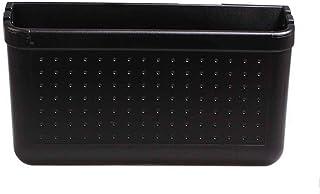 Poubelle à la maison Boîte de rangement pour voiture, boîte de rangement multi-usages, étagère de porte en noir (13 * 14,5...