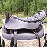 Dfghbn Sella da Cavallo I turisti Cuoio Stretto Contatto con bracciolo Gambe di Serie Completa di Saddle Staffa Circonferenza Sella Occidentale (Colore : Marrone, Size : One Size)