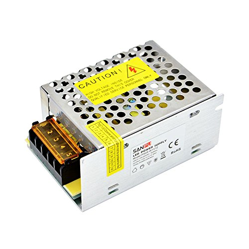 Price comparison product image INFINIC 25W 12V LED Driver 2A Constant Voltage Switching Mode Power Supply 12VDC for LEDs ac-dc Lighting Transformer 12 Volt (SANPU PS25-W1V12)