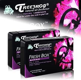 HK5 2 X Tree Frog Black Musk Natural Extreme Car Air Freshener Fresh Box Universal