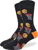 Good Luck Sock Men's Basketball Socks - Black, Adult Shoe Size 7-12