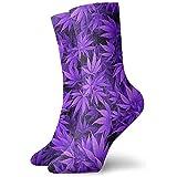 Dydan Tne Purple Leaves Weed Novedad Calcetines Cortos Deportivos Calcetines...