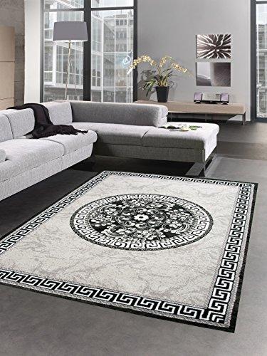 CARPETIA Designer Teppich versage Muster grau schwarz Größe 80 x 300 cm