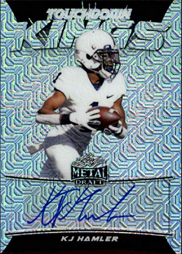 2020 Leaf Metal Draft Touchdown Kings Autograph Mojo Silver Football S40#TK-KH2 KJ Hamler Auto Penn State Nittany Lions Official Player Licensed Rookie Card